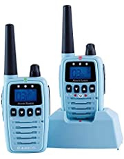 Albrecht Bambini Babysitter 29870 stralingsarme babyfoon met groot bereik, 2 radio's, blauw