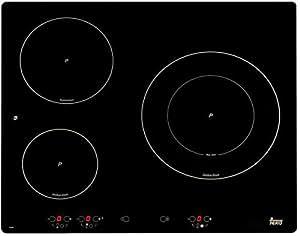 Teka IB 630 - Placa (Incorporado, indución eléctrica, Vidrio, Sensor, 6100W, 60 cm) Negro