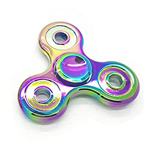 Livoty Tri-Spinner Fidget Hand Spinner Camouflage Multi-Color EDC Focus Toys(Multicolor )