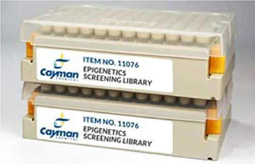 11076-100 - Description : Epigenetic Writers, eraswers, and Readers in a 96-Well Matrix Tube Rack Format - Epigenetics Screening Library (96-Well), Cayman Chemical Company - Each
