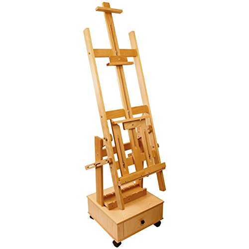 US Art Supply Double Rocker Multi-Purpose Wood Studio Floor Easel ()