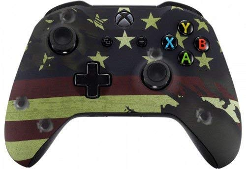 Rapid Fire Controller - American Flag Xbox One S/X Rapid Fire Custom Modded Controller 40 Mods for All Major Shooter Games WW2 (with 3.5 Jack)