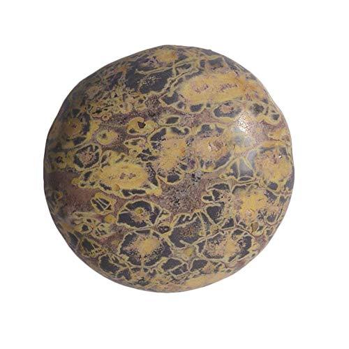 (Beadaholique Leopard Skin Agate Gemstone Round Flat-Back Cabochons 25mm (1 Piece))
