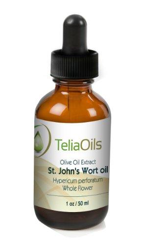 Millepertuis (Hypericum perforatum) Extrait d'huile Perfusé (macérée Oil), 1.7 Oz - 50 ml / l'Elixir Rouge, le Best Vulnéraire huile pour plaies et brûlures