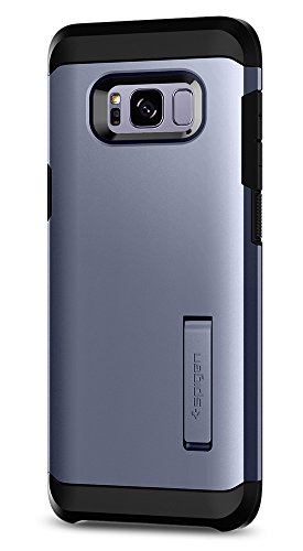 Spigen Tough Armor Galaxy S8 Plus Case with Kickstand and Extreme Heavy Duty Protection and Air Cushion Technology for Galaxy S8 Plus - Orchid Gray