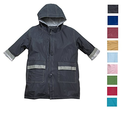 1dd6834b3 Fit Rite Boys Girls Hooded Waterproof Long Raincoat Full Length Rain ...