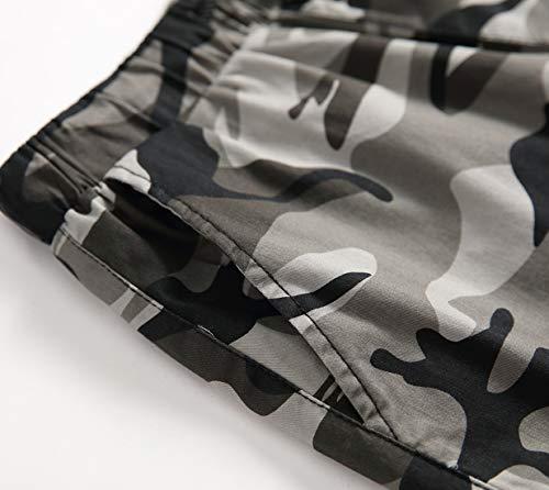 LAUSONS Short Garcon Camouflage - Bermuda Enfant Garçon été - Pantalon Court Militaire Slim Chino Shorts 4