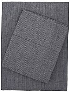 Bambury Chambray Sheet Set, Double, Charcoal