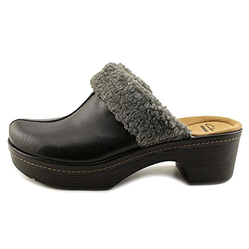 CLARKS Womens Preslet Grove Closed Toe Clogs, Black, Size 8.5