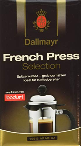 Dallmayr Kaffee French Press 250g Selection Filterkaffee, gemahlen (1 x 250 g)