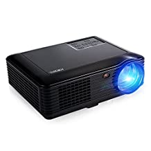 "Home Cinema Theater 4000 Lumens Video Projector, Joyhero Portable LED Projector Support HDMI Max 200"" Big Screen 50000 hours lamp life For Home Back Yard Movie, Party, Games, Office Business Presentation -Black"
