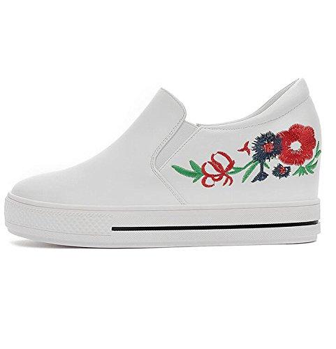 Zapatos Versión Caída Solo Fondo La Con Mujer Blando 35 Blanca Vertiente bottomed Coreana Bizcocho Flat De Casual Calzado Khskx 34 la Gruesa FUxwXX