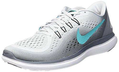 Nike Kvinders Flex 2017 Rn Løbesko Ren Platin / Klar Jade-cool Grå-sort OHUiQ1f5W
