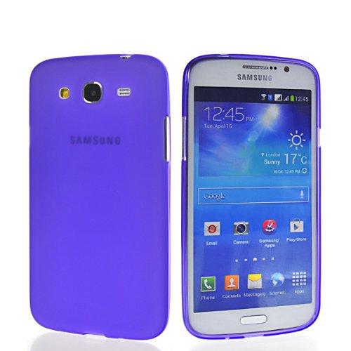 CASEPRADISE Matte Soft Gel Flexible TPU Silicone Back Etui Cover Case For Samsung Galaxy Mega 5.8 I9150 Purple