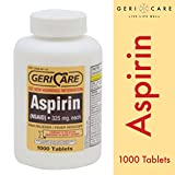 Aspirin Tablets 325mg by Geri-Care | 1000 Count(packaging may vary)