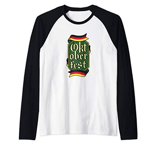Non Traditional German Oktoberfest Outfit Top Men Beerfest Raglan Baseball Tee]()