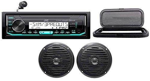 Hot Tub Audio System w/JVC Stereo Bluetooth Receiver+(2) 5.25