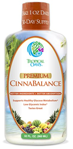 Cinnabalance – Liquid Cinnamon Supplement w/ Cinnamon Bark, Aloe Vera, Ginger Root, Green Tea & Antioxidants – Promotes healthy blood sugar support & glucose levels – 32 oz, 32 servings