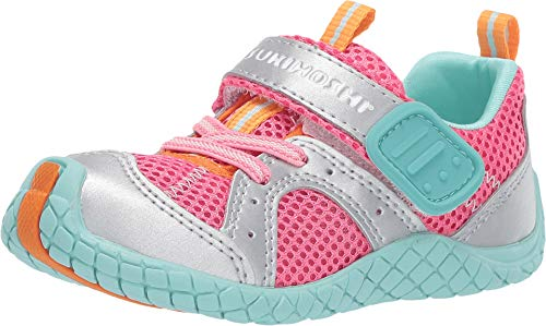 TSUKIHOSHI Kids Girl's Marina (Toddler/Little Kid) Coral/Silver Quick-Dry Sneaker ()