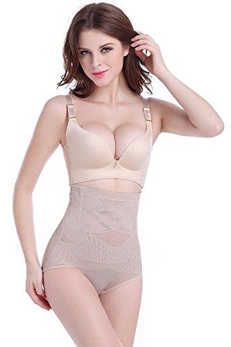 cool nik Controlled Panties, Women Body Shaper Highwaisted Waist Cincher Girdles Shapewear Panties Briefs Beige XXXL