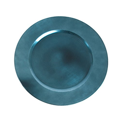 Saro LifeStyle CH001.TE13R  Classic Design Charger Plate, Teal, 13' (Set of 4 pcs)