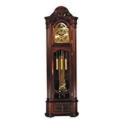 ACME 01417 Marc Corner Grandfather Clock, Cherry Finish