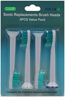 oral-q 8 PCS (2PACKS) HX6014 stardand Ersatz Bürstenköpfe Kompatibel mit Elektrische Zahnbürste oral-q Sonicare ProResults