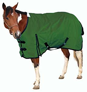 Royal Hamilton WB-600D-HG-XL Turnout Horse Blanket Hunter Green with Black Trim, 84-Inch, Extra Large