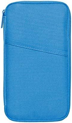 Portefeuille de Voyage Cartes de Cr/édit Billets davion Accessoires de Voyage Cartes dIdentit/é Queta Porte-Passeport Porte-Organiseur de Voyage Portable avec Blocage RFID pour Passeports Bleu