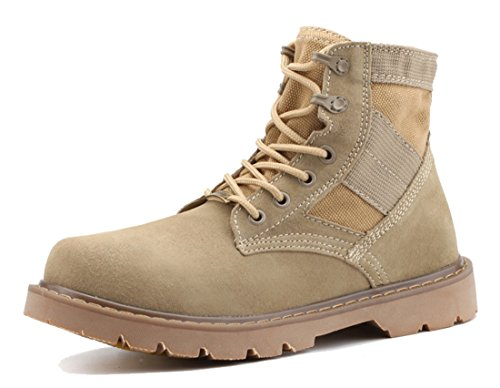 TDA Boys Men's Lace-up Fashion Suede Leather Outdoor Slip Resistant Chukka Martin Boots - stylishcombatboots.com