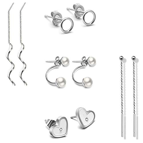 925 stainless steel earings - 5