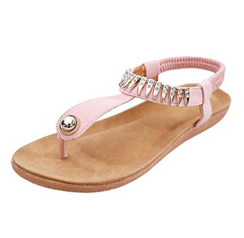 Amcool Frauen Flache Schuhe Böhmen Freizeit Sandalen Clip Toe Outdoor Schuhe 40