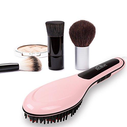 kealive plancha de pelo cepillo cepillo de pelo eléctrico con control temperatura LCD Anion Cuidado Del Cabello, antiestático, cerámica calefacción, ...