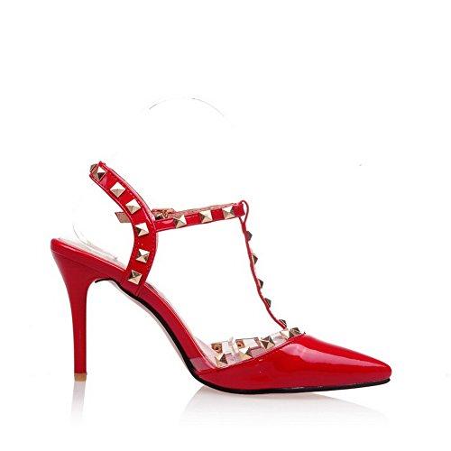 Rosso Red Zeppa Sandali 35 AN con Donna XqFH6I