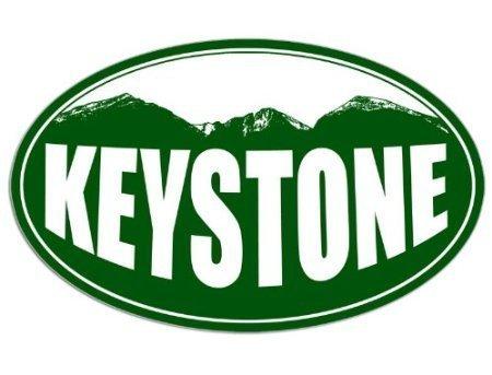 GHaynes Distributing OVAL KEYSTONE Colorado Mountain BG Sticker Decal (snow ski resort) Size: 3 x 5 inch