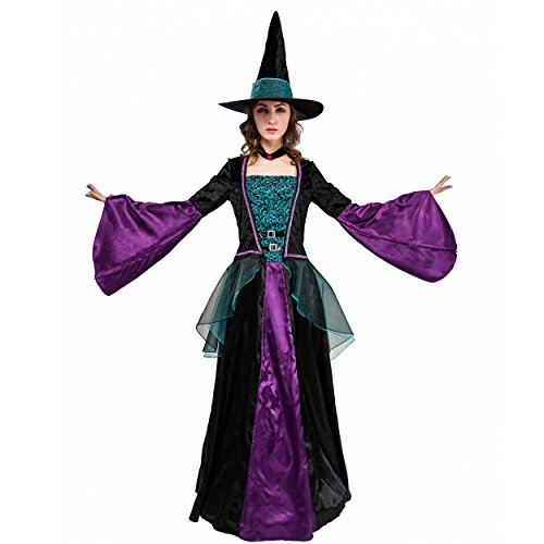DSplay Halloween Witch Queen Costume for Women