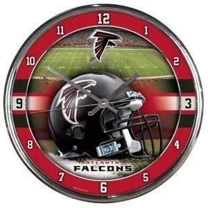 WinCraft NFL Atlanta Falcons Chrome Clock, 12