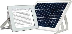 Batería de litio - 108 LED IP65 proyector Solar---Trabajando automáticamente desde el atardecer hasta el amanecer en buen sol / / utilizable en pared y suelo / / MicroSolar FL4-B-UK