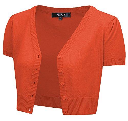 Cap Sleeve Crop Cardigan, 29Colors, Vintage Inspired, Pinup MAK MK2137-FST-L
