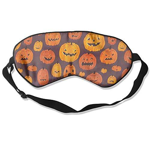 QQMIMIG Novelty Halloween Pattern Unisex Sleep Mask Blinder Shade Eye Mask Eyeshade for Travel,Home,Hotel,Plane -