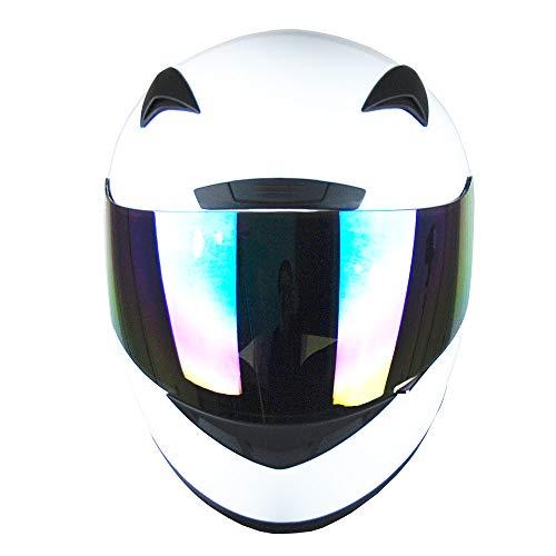 1STORM MOTORCYCLE BIKE FULL FACE HELMET BOOSTER GLOSSY WHITE