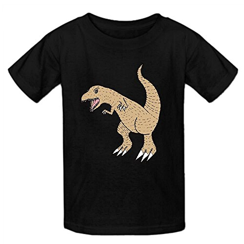 snowl-t-rex-lovely-unisex-crew-neck-print-shirts-black