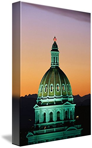 Wall Art Print entitled Colorado State Capitol Building Denver CO by Panoramic Images (Denver State Co Capitol)