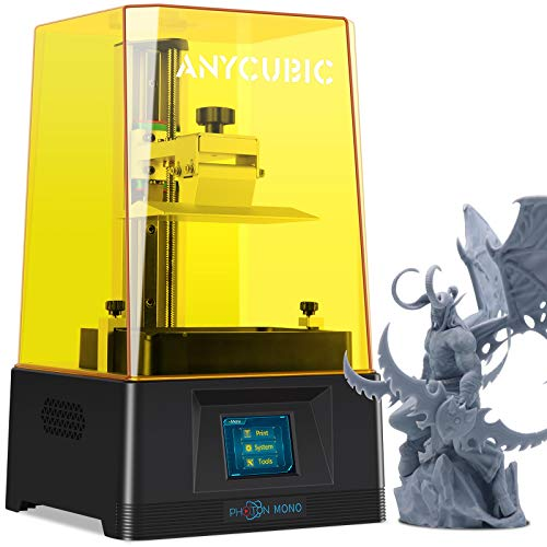 """ANYCUBIC Photon Mono LCD 3D Printer, Fast Printing UV Photocuring Resin 3D Printer with 6.08"""" 2K Monochrome LCD, 5.11…"""