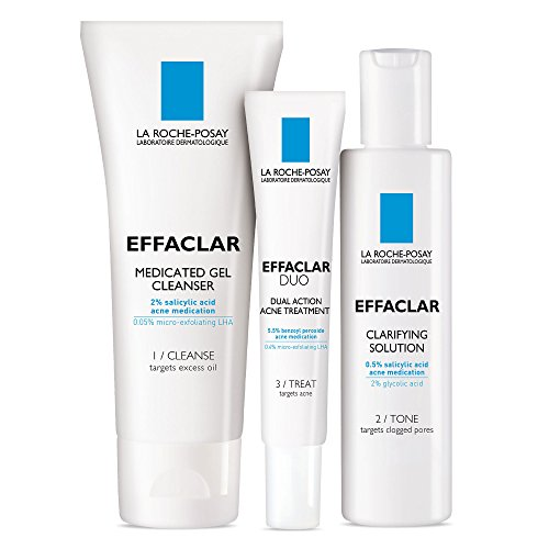 La Roche-Posay Effaclar Dermatological Acne Treatment System, 2-Month - Month 2 Supply