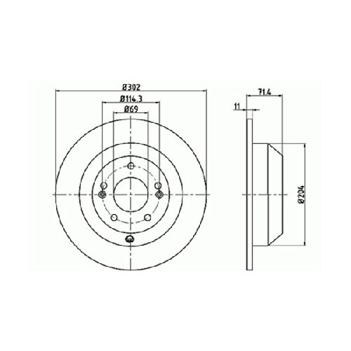 Mintex MDC2245 Brake Disc A Pair