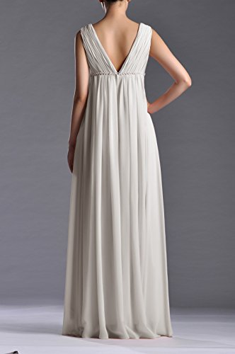 Line Length Dress A Chiffon Adorona Ivory Full Women's fW6Evnnq4