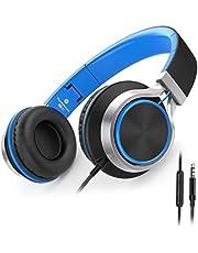 Ailihen C8 Kopfhörer leicht faltbar mit Mikrofon Lautstärkeregelung Musik Headsets für Smartphones PC Laptop Mac MP3 Tablet