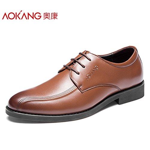 Aemember un grande numero di scarpe scarpe uomo abiti business per gli uomini sul posto di lavoro e scarpe Versatile ,46, marrone
