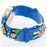 TimerMall Cartoon Ben 10 Big Face Blue Quartz Watches